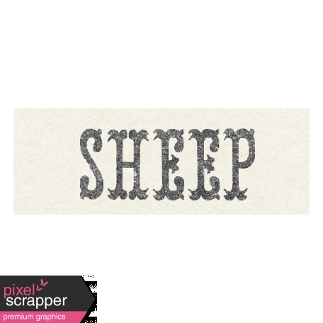 Petting Zoo Sheep Word Art