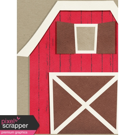 Petting Zoo Barn Journal Card 3x4