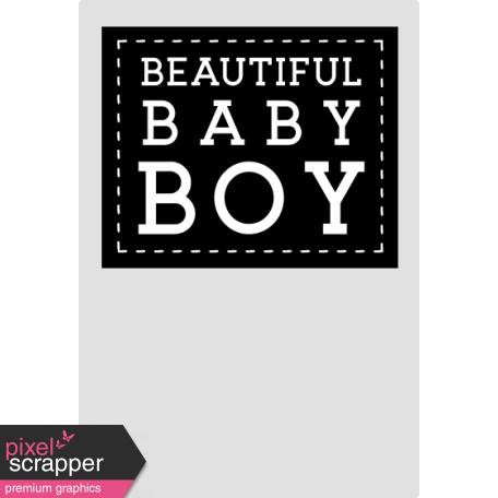 Baby Shower Boy Clothing Tag Template
