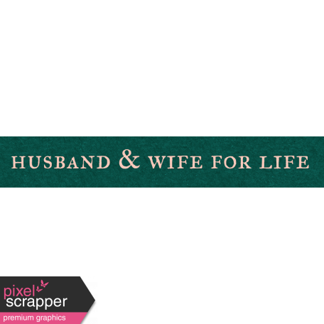 Legacy of Love Husband & Wife for Life Word Art