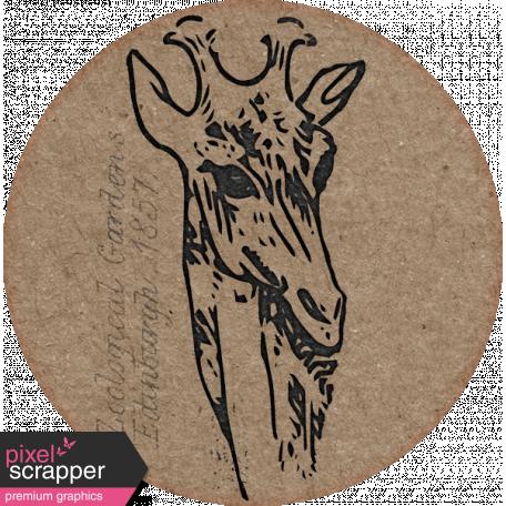 Inner Wild Giraffe Round Label