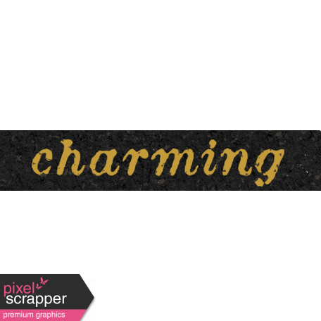 Reminisce Charming Word Art Snippet