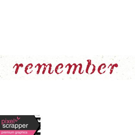 Reminisce Remember Word Art