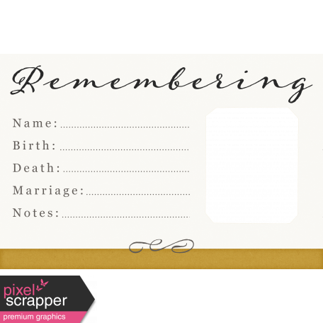 Reminisce Remembering Journal Card 4x6