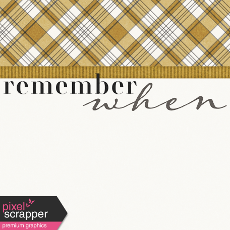 Reminisce Remember When Journal Card 4x4