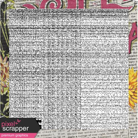 Delightful Days Newsprint Photo Frame