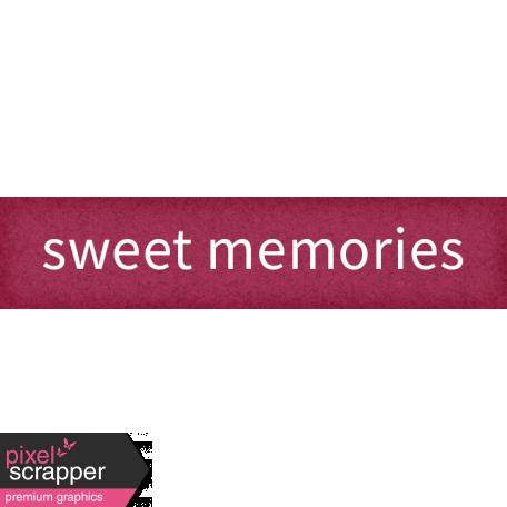 Delightful Days Sweet Memories Word Art Snippet