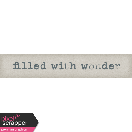 Delightful Days Filled With Wonder Word Art Snippet