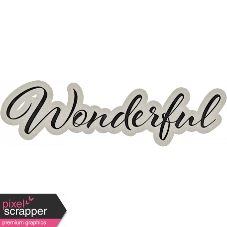 Delightful Days Wonderful Word Art
