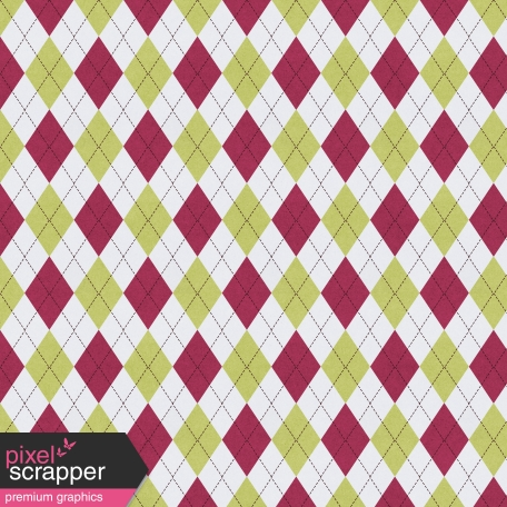 Delightful Days Green and Mulberry Argyle Paper