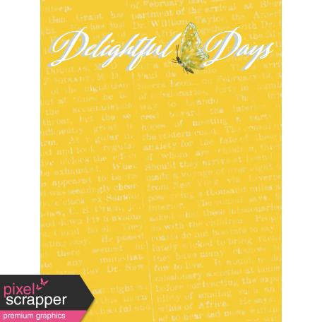 Delightful Days Journal Card - Days 3x4