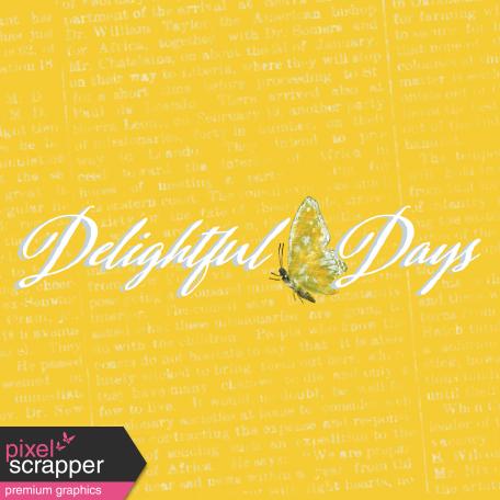Delightful Days Journal Card - Days 4x4