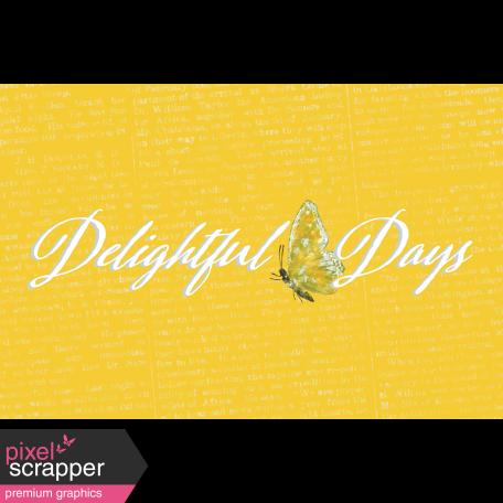 Delightful Days Journal Card - Days 4x6