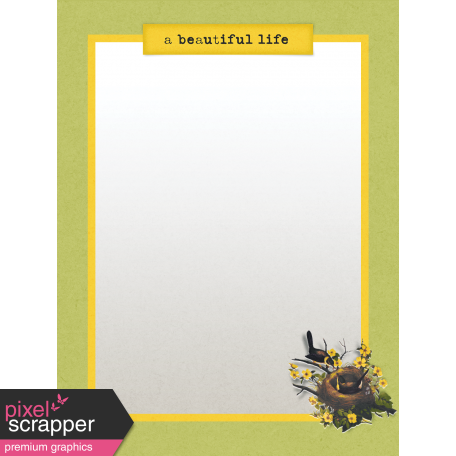 Delightful Days Journal Card - Beautiful Life 3x4
