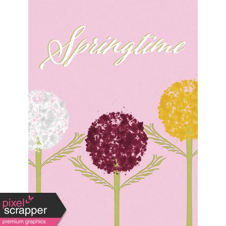 Delightful Days Journal Card - Springtime 3x4