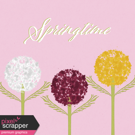 Delightful Days Journal Card - Springtime 4x4
