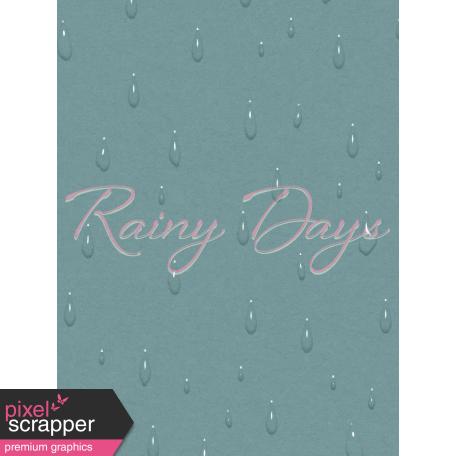 Singin' In The Rain Journal Card - Rainy Days 3x4
