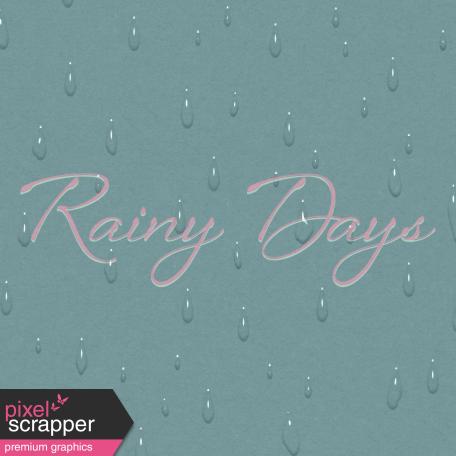 Singin' In The Rain Journal Card - Rainy Days 4x4