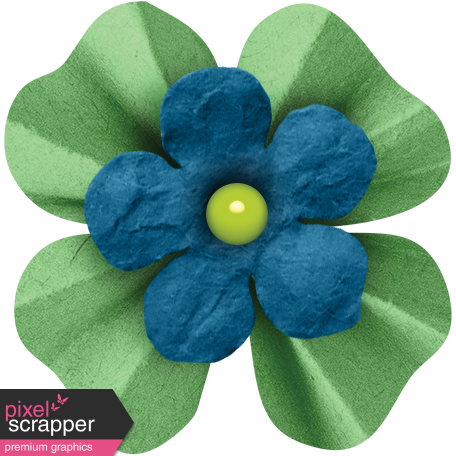 Veggie Table Elements - Blue and Green Flower