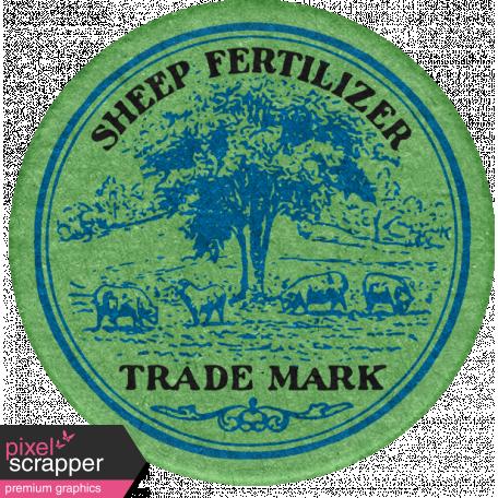 Veggie Table Elements - Fertilizer Label