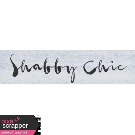 Old Farmhouse Shabby Chic Word Art