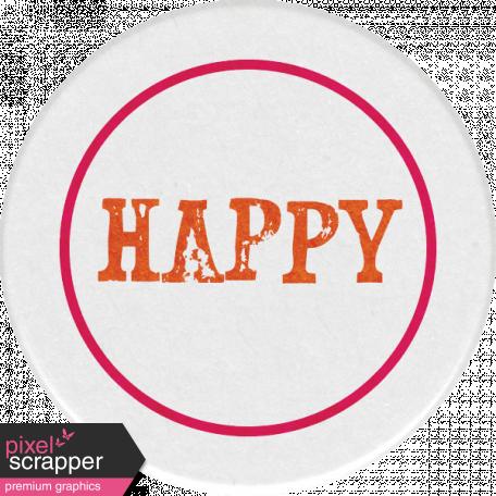 Bohemian Sunshine Element Happy Sticker