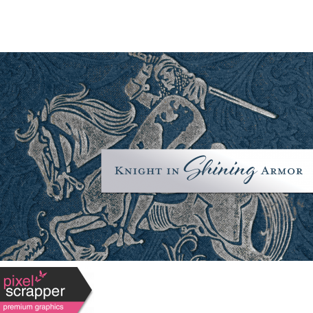 Renaissance Faire Knight in Shining Armor Journal Card 4x6