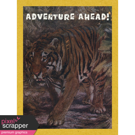 Into the Wild Adventure Awaits Journal Card 3x4