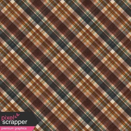 Copper Spice Plaid Paper