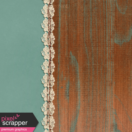Copper Spice Wood Lace 4x4 Journal Card