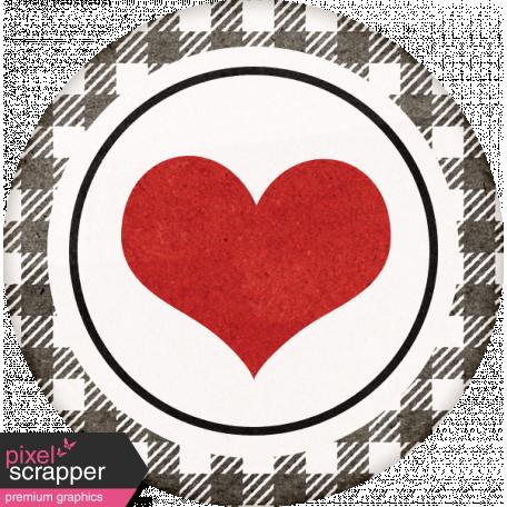 Positively Happy Heart Sticker