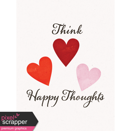 Positively Happy Hearts Journal Card 3x4