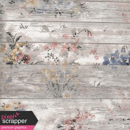Project Endeavors Floral Wood Paper