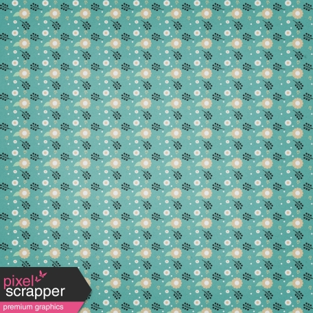 My Tribe Floral Teal Paper
