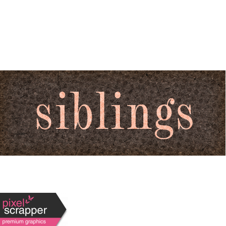 Vintage Memories: Genealogy Siblings Word Art Snippet