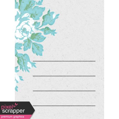 "Retro Picnic Journal Card Rose 3""x 4"""