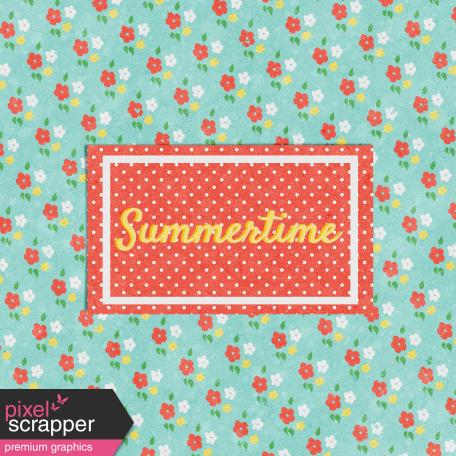 Peach Lemonade Summertime Journal Card 4x4