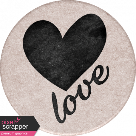 Cherish Round Love Sticker