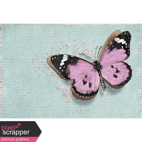 "Cherish Butterfly Journal Card 4""x 6"""