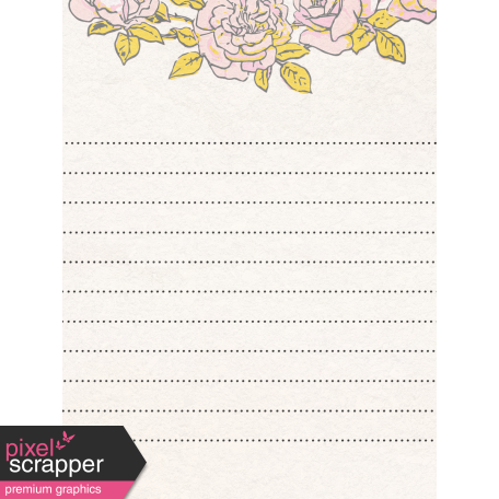 "Tea in the Garden Rose Journal Card 3"" x 4"""