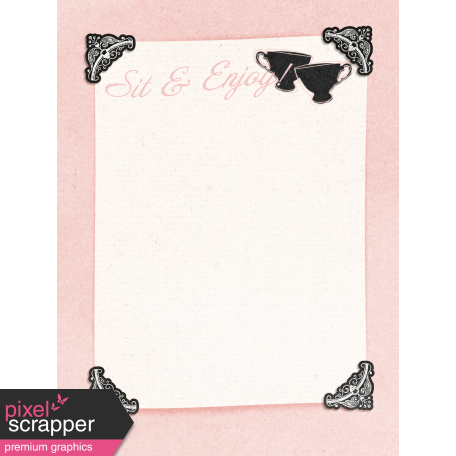 "Tea in the Garden Sit & Enjoy Journal Card 3"" x 4"""