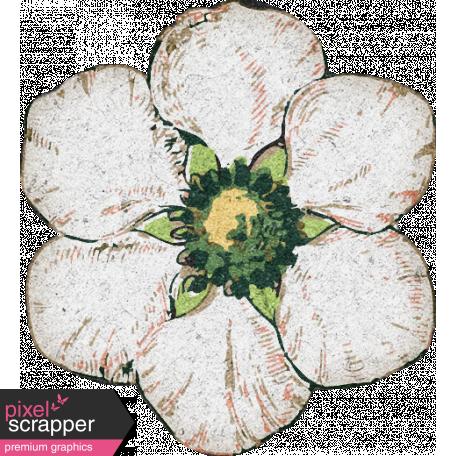 Furry Cuddles White Flower