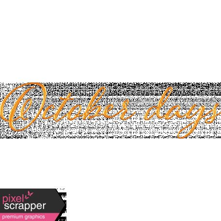 October Days Word Art