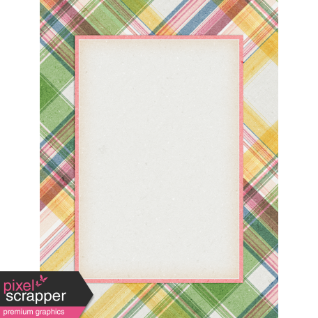 Bloom Revival plaid Journal Card 3x4
