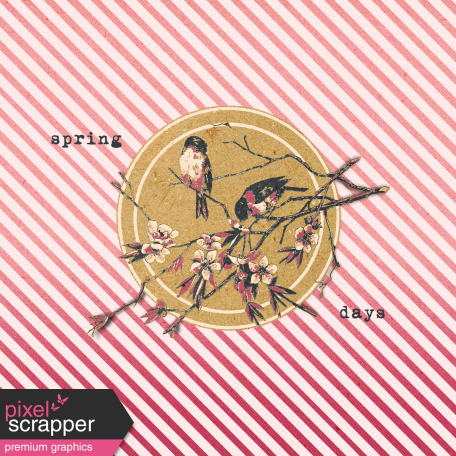 Bloom Revival Spring Days Journal Card 4x4
