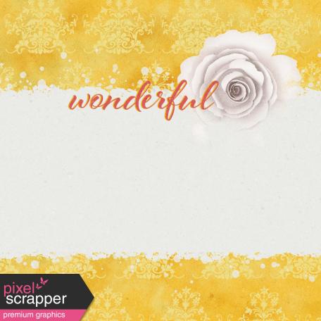 Bloom Revival Wonderful Journal Card 4x4
