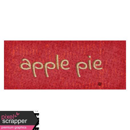 Mulled Cider Apple Pie Word Art