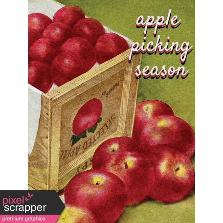 Mulled Cider Aplle Picking Season Journal Card 3x4