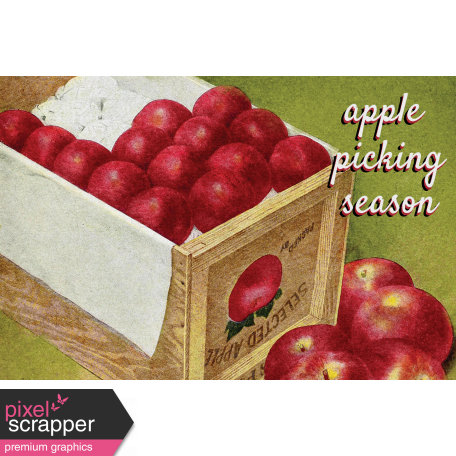 Mulled Cider Aplle Picking Season Journal Card 4x6