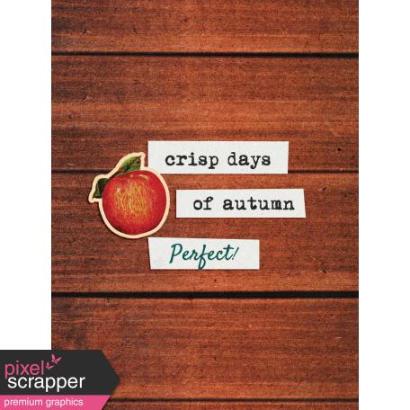 Mulled Cider Crisp Days Journal Card 3x4